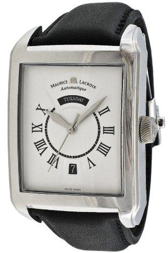 Maurice Lacroix Pontos Rectangulaire Automatic SS Mens Watch pt6147-ss001-11e