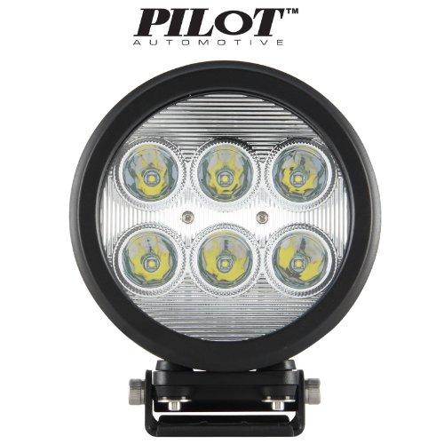 "Pilot Automotive 7"" Inches Round Cree Led 18W 6 Led Offroad Work Light / Fog Light / Driving Light 6000K White 1 Pc"