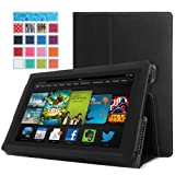 MoKo Amazon All New Kindle Fire HD 7 Case - Slim Folding Cover Case for All New Fire HD 7.0 Inch 2013 Gen Tablet, BLACK (With Smart Cover Auto Wake / Sleep. WILL NOT Fit 2012 Fire HD 7 / 2013 Fire HDX 7 or HD 7 2014 Gen)