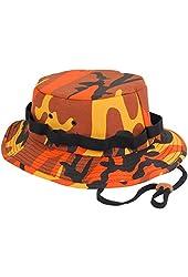 Mens Military Hat - Jungle Hat, Savage Orange Camo by Rothco