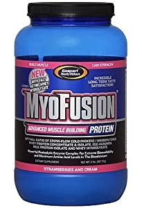 Gaspari Nutrition MyoFusion With Hydrolysate, Strawberry And Cream, 2-Pound