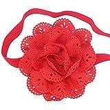 DAYAN Neonatal Hair Diadema Accesorios Ni�as beb�s vendas de la flor Fotograf�a Atrezzo color rojo