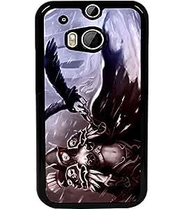 ColourCraft Devil Girl Design Back Case Cover for HTC ONE M8