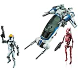 Star Wars 501st Legion Attack Dropship - Class 1 Fleet Vehicle with Clone Pilot and Battle Droid Figure