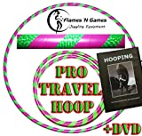 Adult Weighted Hula Hoop (Purple/UV Green) +Hooping DVD! Large Travel Hula Hoops For Dance, Fitness & Exercise!