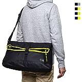 (Marib select) ショルダーバッグ メッセンジャーバッグ 便利な二つ折りスタイル 軽量 A4サイズ対応 通勤 通学 鞄 バッグ (4カラー)