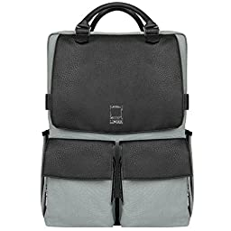 Lencca Novo Canvas and Vegan Leather Backpack Crossover for up to 15.6 \
