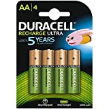 Duracell 2400mAh Pre Charged Rechargeable AA Batteries - Pack of 4