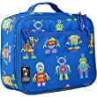 Olive Kids Robots Lunch Box w Zippered Front Pocket in Blue