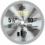 Vermont American 26137 10mm Arbor 5-1/2-Inch 80 Tooth Xtend Cordless Steel Cutting Circular Saw Blade