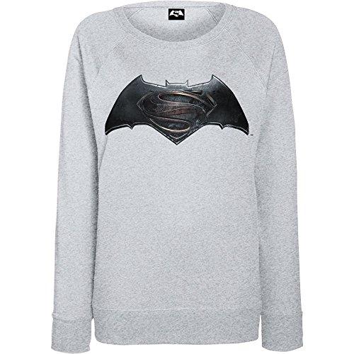 DC Comics Donna Batman v Superman Logo Felpa XX-Large Sport Grigio