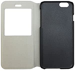 iPhone 6 4.7 Faux Leather Case with Window (White)