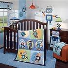 Robbie 1.0 4 Piece Baby Crib Bedding Set plus FREE Sheet Saver by Lambs & Ivy