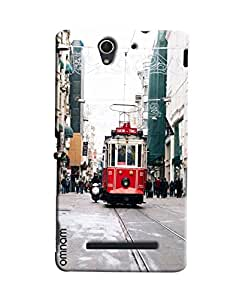 Omnam Tram On Raoad Printed Designer Back Cover Case For Sony Xperia C3