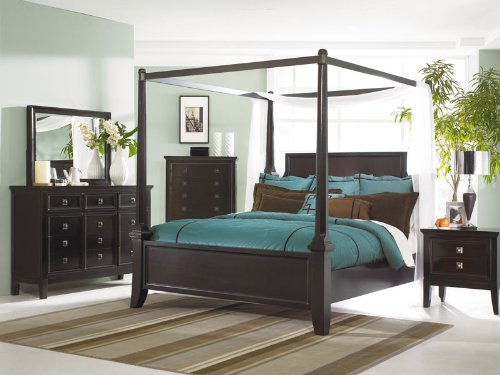 MARTINI SUITE - 5pcs QUEEN CANOPY BEDROOM SET