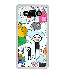 ifasho Cartoon Soft face many cartoons characters Back Case Cover for Samsung Galaxy A8