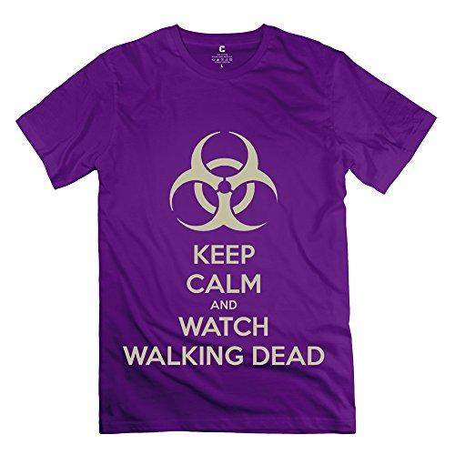 Tgrj Men'S Tees - New Design Kc Watch Walking Dead Tshirt Purple Size S