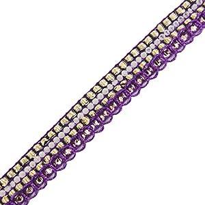 accesorios de costura sari ajuste de la cinta trenzada frontera 1,2 cm de ancho de acabado por el patio