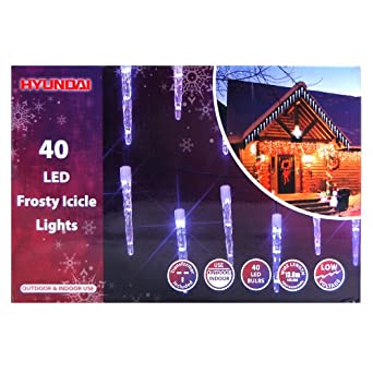 40 led icicle frosty 10cm ice sculpture christmas lights. Black Bedroom Furniture Sets. Home Design Ideas