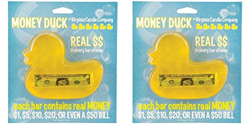 (Set of 2) Duck Money Soap - Find REAL CASH in Every Delightfully Scented Bar ...
