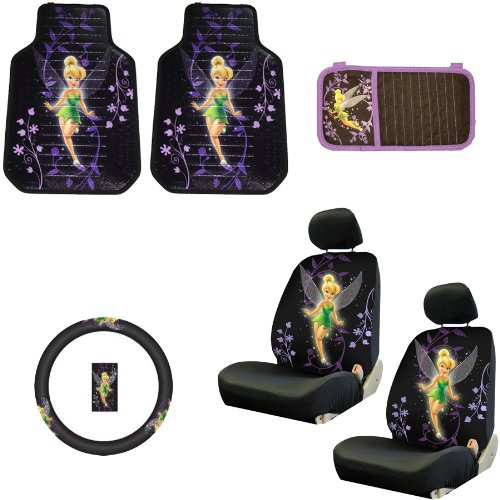 Auto Accessories Interior/Exterior Combo Kit Gift Set - 8pc - Low Back - Tinkerbell Mystical Tink