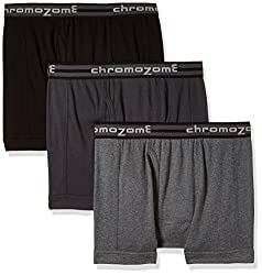 Chromozome Men's Cotton Trunk (Pack of 3) (8902733346412_TC 01_Medium_Charcoal, Ash and Black)