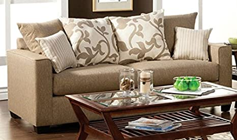 Colebrook Sofa with Pillows by Furniture of America