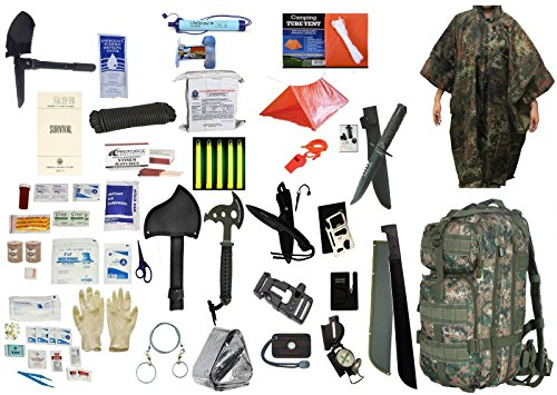 2 Person Supply 1 Day Emergency Bug Out S.O.S. Food Rations, Drinking Water, LifeStraw Personal Filter, First Aid Kit, Tent,