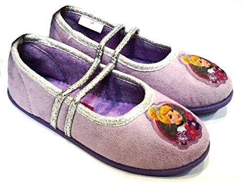 DE FONSECA DISNEY pantofole, BALLERINE da bimbe mod. PRINCEGI 60 LILLA (30)
