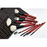 Complete 10 Piece Home Use Or Travel Make-up Brush Set. Cosmetic Brushes Made With High Quality Goat And Pony...