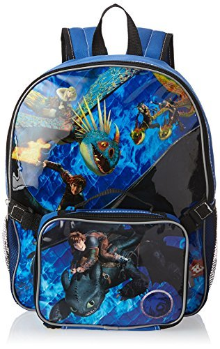 How To Train Your Dragon Big Boys' Backpack with Lunch Kit, Multi, One Size
