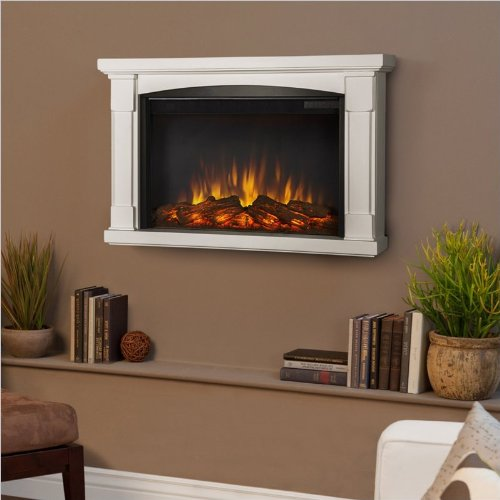 Real Flame Brighton Slim Line Wall Hung Electric Fireplace - image B00G7JCTMA.jpg