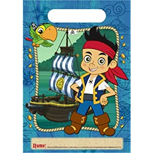 Jake and the Never Land Pirates Disney Birthday Party Treat Bags