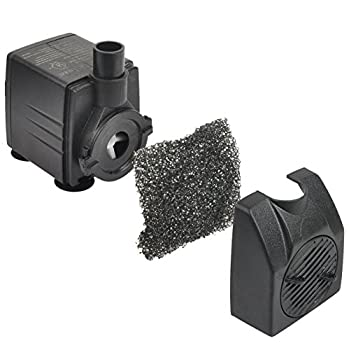 Simple Deluxe 1056 GPH UL Listed Submersible Pump with 15 Cord, Water Pump for Fish Tank, Hydroponics, Aquaponics, Fountains, Ponds, Statuary, Aquariums & Inline