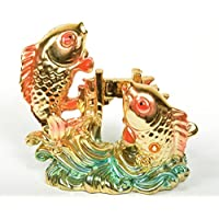 Holy Krishna's Energized - Vastu Feng Shui 3inch Colorful Fish For Good Luck And Prosperity + Free Laxmi ATM Yantra...