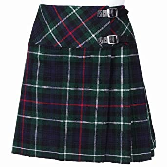 New Ladies Mackenzie Tartan Scottish Mini Billie Kilt Mod Skirt Size 10UK
