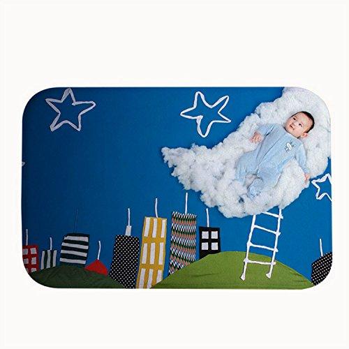 """rioengnakg Cute Baby Pose Tappeto Zerbino Ingresso Tappeto Tappetini per esterno anteriore porte Entrata Carpet, 16"""" x 24""""(40 x 60cm)"""
