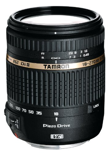 Tamron Af 18-270Mm F/3.5-6.3 Vc Pzd All-In-One Zoom Lens For Canon Dslr, Model Boo8E Filter Size 062Mm