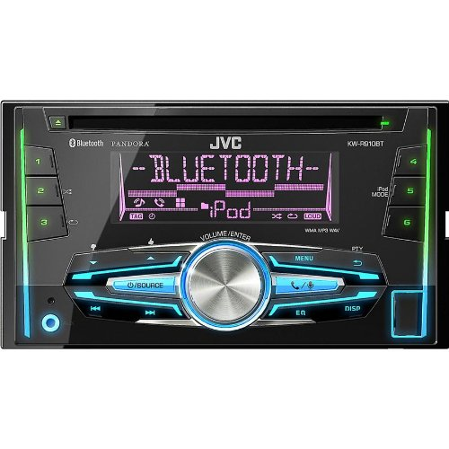 Jvc Double-Din Cd/Mp3/Am/Fm/Usb Double-Din Bluetooth Android & Iphone Car Stereo Receiver W/ Remote Control