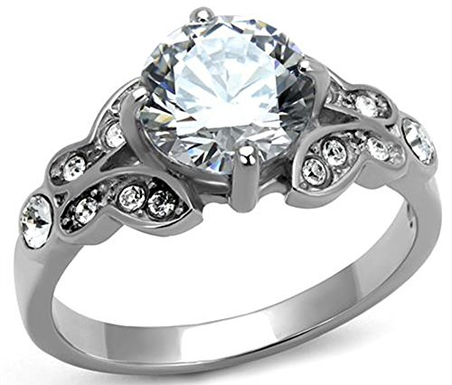 saysure-high-polish-316l-stainless-steel-anniversary-wedding-engagement-ring