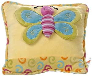 Play n Pets PNP-3495Y Butterfly Cushion 27cm, Yellow