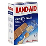 Band-Aid Adhesive Bandages, Variety Pack, Assorted Sizes, 30 ct.