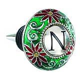 GANZ Monogram Wine Bottle Topper (Stopper) - N - Christmas - Wine Monogram Stoppers EX14043