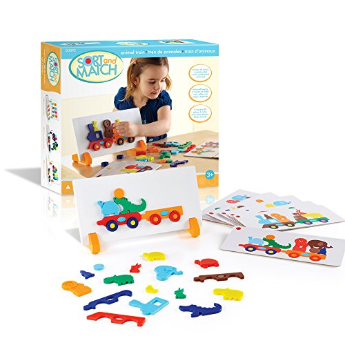 Guidecraft Sort & Match Animal Train - 1