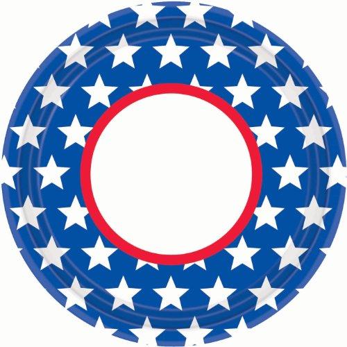 Patriotic Stars Round Platter
