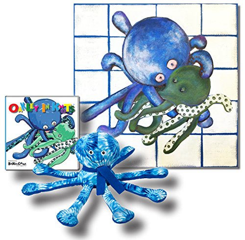 "Oakley the Octopus - Premium Gift Set, Includes ""Oakley in Knots"" - Storybook & Beyond, Canvas Wall Art and Plush"