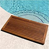 Le Spa Floor Mat w Frame in Oiled Finish
