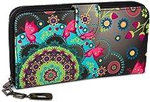 styleBREAKER Geldbörse mit Ethno Blumen und Blüten Muster, Vintage Design, Reißverschluss, Portemonnaie, Damen 02040040  Von styleBREAKER