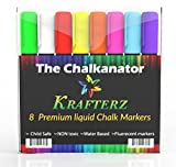 SUPER SALE! Chalkanator Chalk Markers - 8 Premium Neon Paint Markers + FREE EBOOK - 4.5mm reversible tip - Perfect for Kids' Arts & Crafts, Teachers, Artist markers & MORE! - 60 Day Money Back Guarantee - Order Risk Free!
