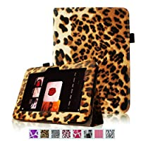 Fintie (Leopard Brown) Slim Fit Leather Case Cover Auto Sleep/Wake For Kindle Fire HD 7 Tablet (will Only Fit...